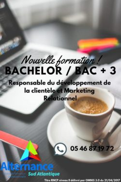 Nouvelle formation Bachelor en alternance à Rochefort